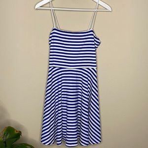 Susana Monaco Blue White Stripe Dress
